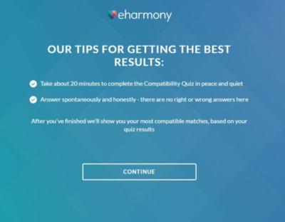 eharmony - Personality test