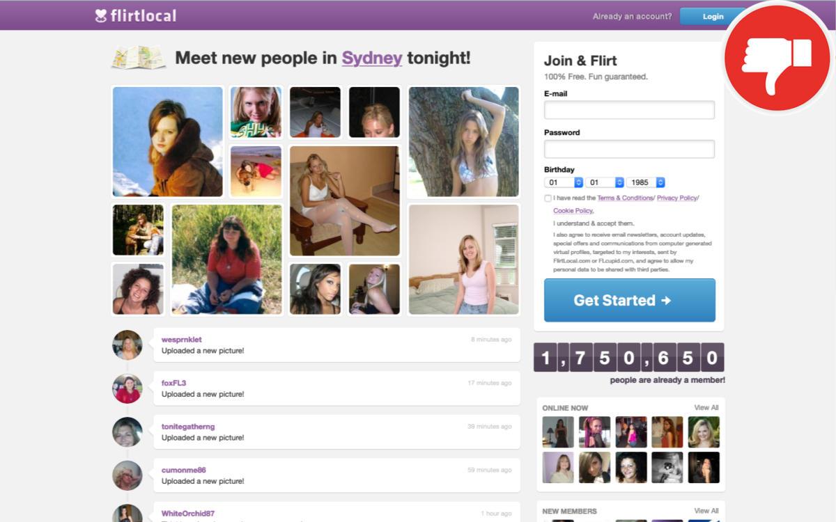 👎 FlirtLocal.com review | Scam March 2021 - Fake check